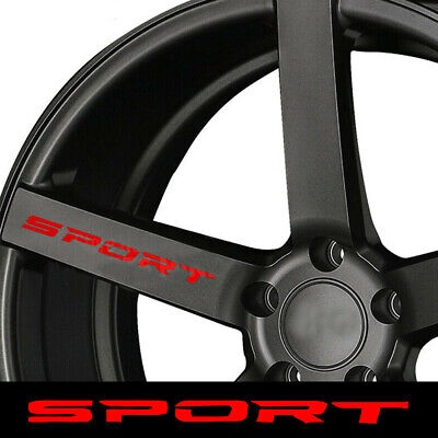 $2.82 • Buy 4x SPORT Style Car Rims Wheel Hub Racing Sticker Graphic Decal Accessories