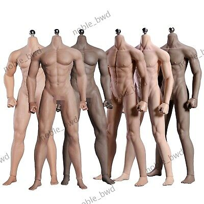 $ CDN83 • Buy 1/6 Seamless Muscular Male Figure Body Action Doll 12  Fit Phicen Hot Toys Head