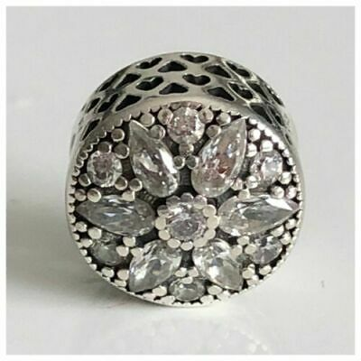 New Authentic Genuine Silver PANDORA RADIANT BLOOM Crystal Charm 791762 ALE • 4.10£
