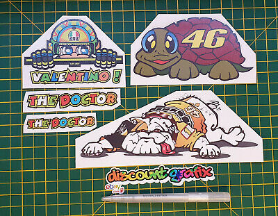 THE DOCTOR Valentino Rossi Stickers X 5 • 2.50£