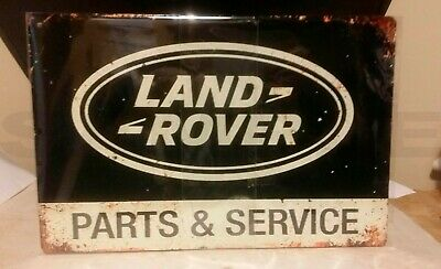 Land Rover Metal Sign Car Workshop Garage Tin Plaque Retro Bar Sign ,LARGE SIGN  • 6.75£