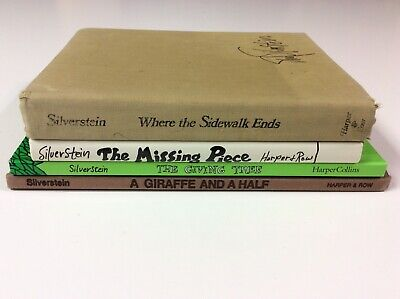 Shel Silverstein Hardcover 4 Book Lot Sidewalk Ends Giraffe And A Half • 23.30£