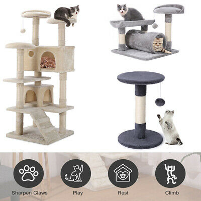 Cat Tree Condo Activity Centre Play House Kitten Climbing Tower Scratching Post • 22.99£