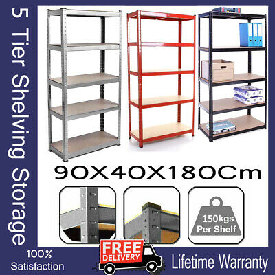 Heavy Duty 875kg Boltless Commercial Industrial Warehouse Storage Shelving Rack • 20.93£