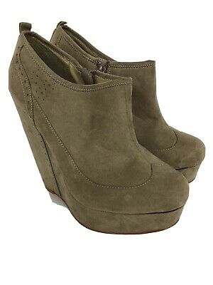 £13 • Buy Red Herring Ladies Wedge Platform Ankle Boots Taupe Colour Sz5
