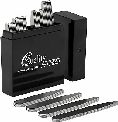 $12 • Buy 40 Metal Collar Stays- 4 Sizes In A Box For Men Clothing New