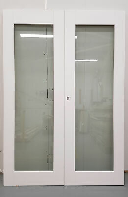 £517.50 • Buy Wooden Timber White French Door Pair Patio External Glazed 1368x1972mm JWD32