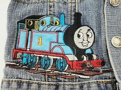 £7.26 • Buy Thomas The Train Friends Tank Engine Toddler 2T Denim Jean Jacket Sodor Patches