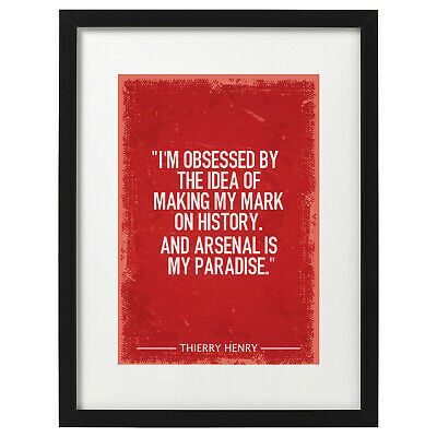 £12.99 • Buy Thierry Henry Arsenal Quote Art Print / Poster