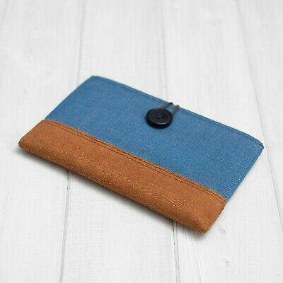 Faux Suede And Denim Sleeve Cover Case For Kindle Paperwhite Voyage Touch Oasis • 20.99£