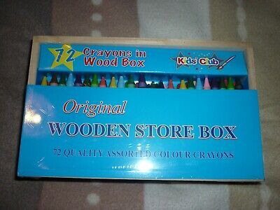 Wooden Pencil Storage Box With 72 Crayons Free Delivery With Hermes • 6£