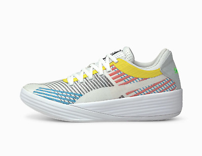 Puma Clyde Clyde All-Pro Basketball Shoes White Blue Atoll Red Green 194039_01 • 125.32£