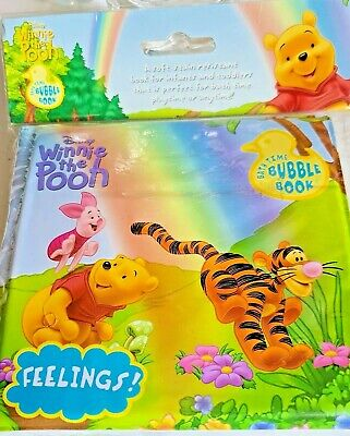 £7.61 • Buy DISNEY Winnie-the-Pooh FEELINGS Bath Time Bubble Book NIP For Infants & Toddlers