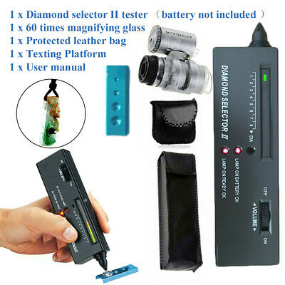 £17.13 • Buy Gold/Silver/Diamond Tester Gemstone Testing Kit With 60 Times Magnifying Glass