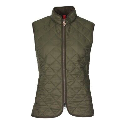 Ladies Laksen Audley Quilted Gilet - Green • 125£