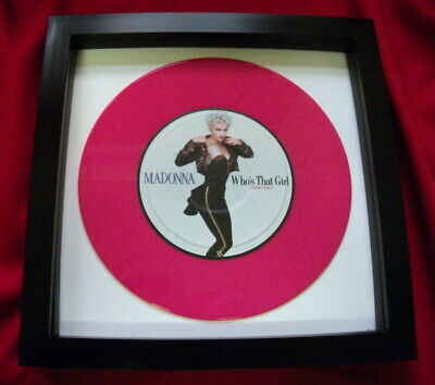 Madonna Who,s That Girl  7  Replica Framed Pink Vinyl Single  Ideal Gift Quality • 22.99£