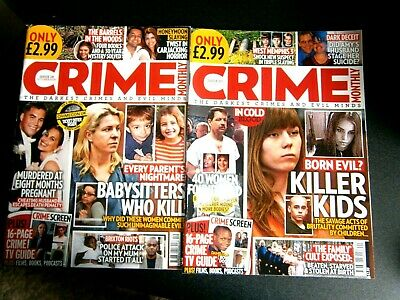 £4.99 • Buy 2 Crime Monthly Magazines Issue 19 October  & Issue 20 November (new) 2020