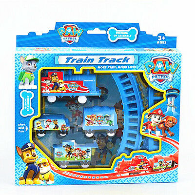 Fun Paw Patrol Dog Doll Figures Electric Train Track Set Kids Boy Girl Toy Gift • 6.99£