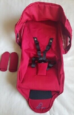 NEW Genuine Quinny Zapp Xtra 2 Seat Cover And Canopy Fabric Set -Red Rumour • 39.99£