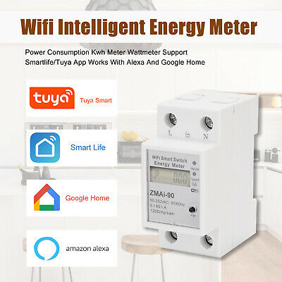 AU38.50 • Buy Single Phase Wifi Intelligent Energy Meter Power Consumption Kwh Meter Tuya C1K2