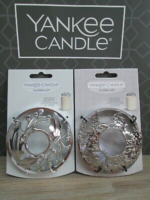2 Yankee Candle HOLLY BERRIES & WINTER TREES ILLuma Lids Perfect Christmas Gifts • 16.50£