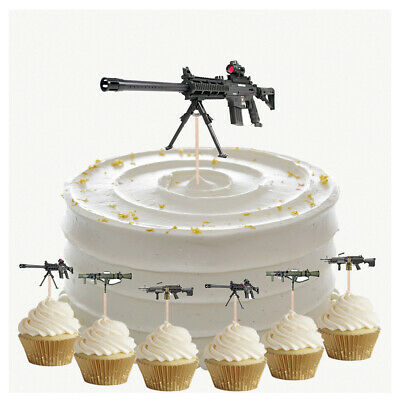 £4.99 • Buy Army Machine Gun Birthday Cupcake & Party Food Toppers Decorations Picks 14 Pack