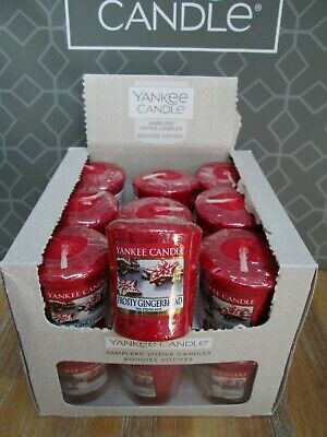 Yankee Candle Box 18 FROSTY GINGERBREAD Votive Samplers. • 18.99£