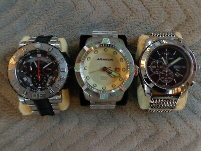 $ CDN230 • Buy  Invicta And Aragon Watches Lot Of 3