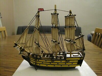 Collectable Small Model Ship Sailing Boat 'Mini Victory' New In Box • 6.50£