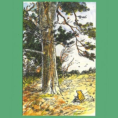 £0.99 • Buy Postcard - Winnie-the-Pooh & Piglet Walking Past Large Tree In Hundred Acre Wood