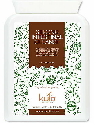 Kula Nutrition - Herbal Parasite Cleanse - Strong Intestinal Detox - 90 Capsules • 17.99£