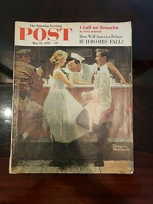 $ CDN20.33 • Buy Then  Saturday Evening Post May 25, 1957 Norman Rockwell
