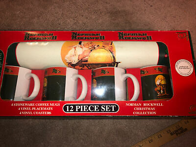 $ CDN26.64 • Buy Norman Rockwell Christmas Collection Santa Mugs/Placemats/Coasters 12pc
