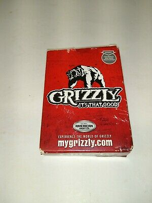 $ CDN3.81 • Buy Grizzly Snuff Chew Playing Cards American Snuff Co. Advertising Sealed New Deck