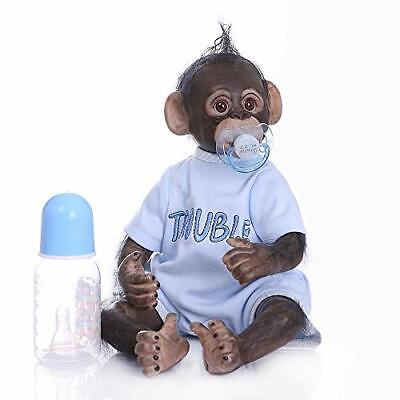 ICradle 45CM Handmade Detailed Paint Reborn Baby Monkey Newborn Dolls • 69.99£