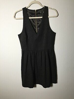 AU26 • Buy Forever New Womens Black Fit And Flare Dress Size 12 Sleeveless V Neck Good Cond