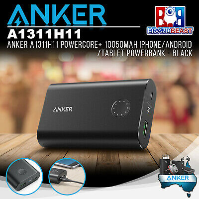 AU69.99 • Buy Anker A1311H11 PowerCore+ 10050mAh IPhone/Android/Tablet Powerbank - Black