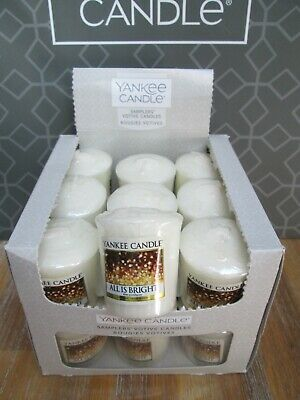 Yankee Candle Box 18 ALL IS BRIGHT Votive Samplers. • 18.99£