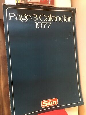 £70 • Buy Vintage Glamour Calendars The Sun 1977 To 1989 Inclusive Female Page 3