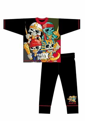 BRAND NEW BOYS OFFICIAL TREASURE X PIRATE PYJAMAS AGES 4-5 Up To 9-10 YEARS • 4.99£