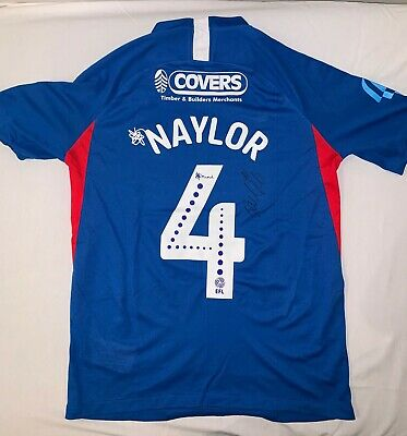 £110 • Buy Portsmouth FC Match Worn Signed Shirt Captain Tom Naylor HEADS UP 8/2/20