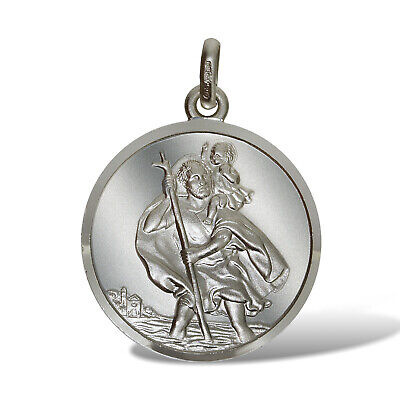 Sterling Silver St Christopher Pendants 14mm Ingot Travel Or Free Engraving Box • 6.99£