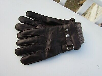 $149.95 • Buy NEW XL COACH Mens Leather Gloves $188 Sheepskin 3 In 1 Cashmere F83853 Handsome