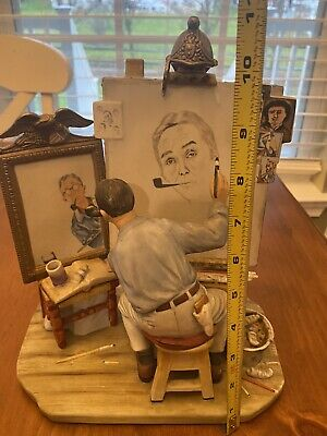 $ CDN499.56 • Buy NORMAN ROCKWELL Triple Self Portrait Limited Edition Porcelain FIGURINE GORHAM