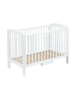 John Lewis Anna Drop-Side Cot, White Birch, Suitable From Birth • 40£