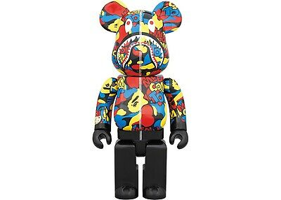 $449 • Buy BEARBRICK Medicom A Bathing Ape BAPE Shark ABC Camo 400% NEW AUTHENTIC