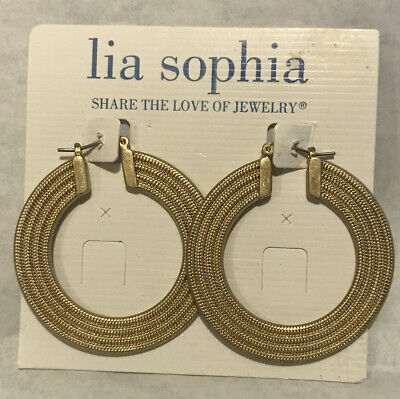 $ CDN18.87 • Buy Lia Sophia Gold Tone Round Earrings Pierced Never Worn