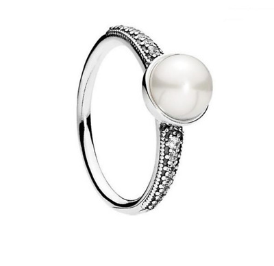 Genuine Authentic Pandora Elegant Beauty Pearl Ring 191018P + Pouch RETIRED • 17.59£