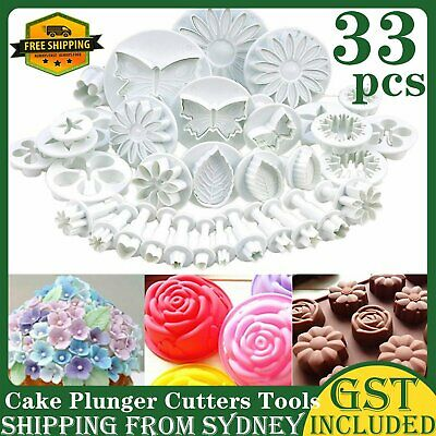 AU14.88 • Buy 33PCS Cupcake Decorating Sugarcraft Cake Plunger Cutters Tools Fondant Icing AU
