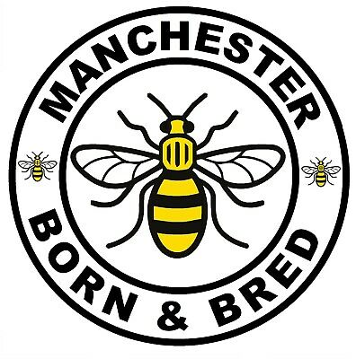 £4.75 • Buy Manchester - Novelty Car / Window Stickers (born & Bred) +1 Free / New / Gifts